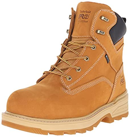 Timberland PRO Men's 6 Inch Resistor Comp Toe WP INS Work Boot, Wheat Tumbled Full Grain Leather, 12 M US