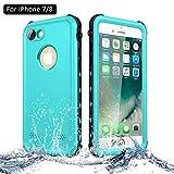 NewTsie Coque Étanche iPhone 7, Coque Antichoc iPhone 8, Imperméable IP68 Anti-Chute Anti-poussière et Anti-Neige Housse pour iPhone 7/8 4.7 inch (B-Bleu)