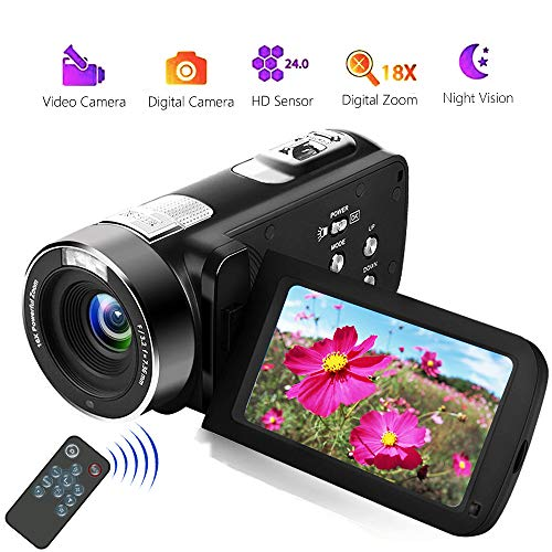 Videocámara Videocamara Full HD 18X Zoom Digital