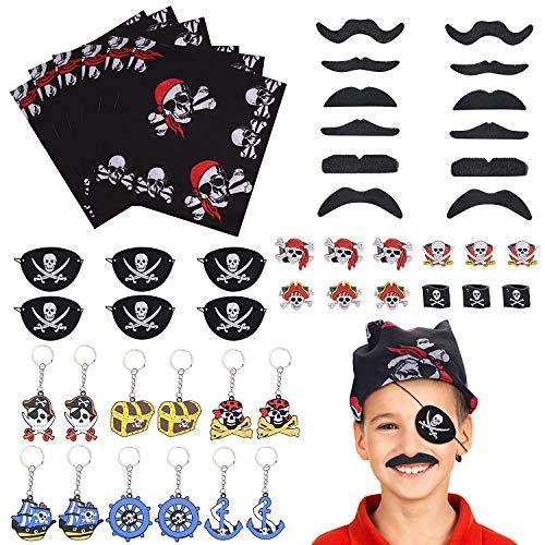 Stecken Sie Kostüm - FORMIZON 48 Stück Piraten Zubehör