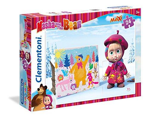 Clementoni 24038 - Masha e Orso Maxi Puzzle, 24 Pezzi