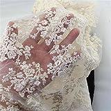 KING DO WAY 1 Stueck Spitzen serie DIY Lace Trim handgefertigte tuch baumwolle haushalt Beige 1.42yards