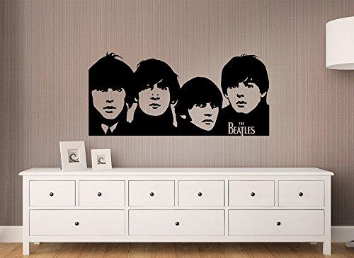 Price comparison product image Gran Dora W653Wall Sticker Beatles Portrait, light orange, (BxH) 58 x 27 cm
