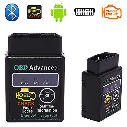 Miss Morgen ELM327 Mini Standard Interface Bluetooth Diagnose Scanner OBD 2 OBD II Unterstützung Android Can Bus Diagnosegerät Funktioniert Tool für die meisten Autos (Legacy Gt 2005)