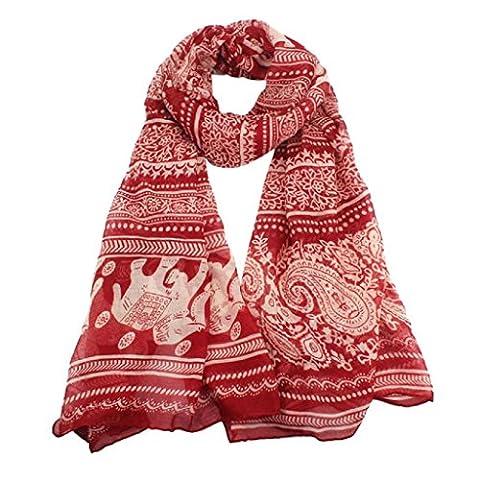 Scarves,Eenkula Hot Autumn Winter New Ladies Neck Stole Elephant Print Long Scarf Shawl Wrap Pashmina