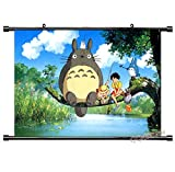Wallscrolls-Wonderland Anime Manga My Neighbor Totoro Stoffposter Wallscroll Wallposter Tapete Wallposter Poster Geschenk 90x60CM