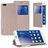 Vivo Y66 GOLD SmartLike perfect Fitting Premium Quality Window Leather Flip Cover for Vivo Y66 GOLD
