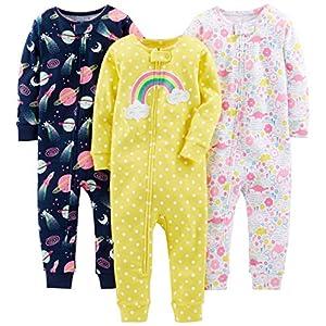 Jumpsuit Manga Larga Pijamas Bebe YOUJIA para Beb/é Ni/ños y Ni/ñas Paquete de 3