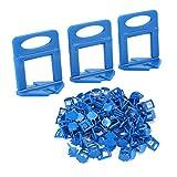 100Pcs Fliesen Nivelliersystem Clip blaue Kunststoffklammern Boden Wand Tiling Ebenen Abstandhalter Fliesen Nivelliersystem Klipp für Fußböden und Wände