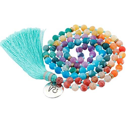 Shanxing 8mm Tibetische Gebetskette Yoga Armband Edelstein Buddha Kette Halskette Buddhistischer Schmuck (Schmuck, Der Aus Korallen)