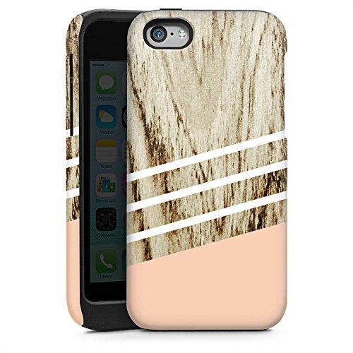 Apple iPhone 5 Housse étui coque protection Look bois Pastel Printemps Cas Tough brillant