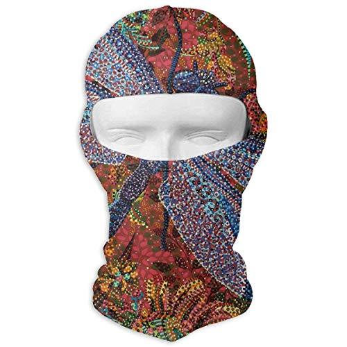 Jxrodekz Polka Dot Dragonfly Winter Ski Full Face Mask Sun Protection Head Hood for Men and Women -
