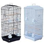 Pet Zone TALL XL BUDGIE COCKATIEL FINCH BIRD CAGE BLACK/WHITE NBH3081 (BLACK) 9