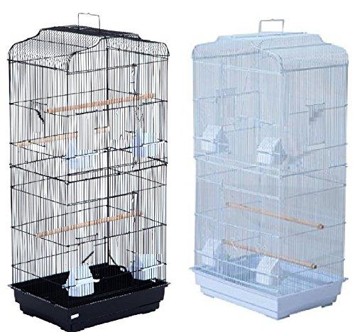 Pet Zone TALL XL BUDGIE COCKATIEL FINCH BIRD CAGE BLACK/WHITE NBH3081 (BLACK) 1