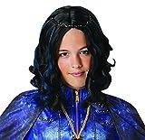 Halloweenia - Kostüm Accessoires Zubehör Kinder Evie Perücke, perfekt für Karneval, Fasching und Fastnacht, Schwarz