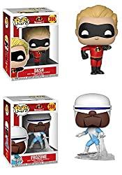 Funkopop Incredibles 2: Dash + Frozone – Stylized Disney Pixar Vinyl 2 Figure Bundle Set New