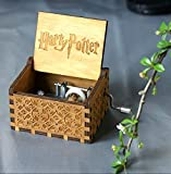 #10: UspotUshop Wooden Hedwig Theme Harry Potter Hand Cranked Collectible Engraved Music Box