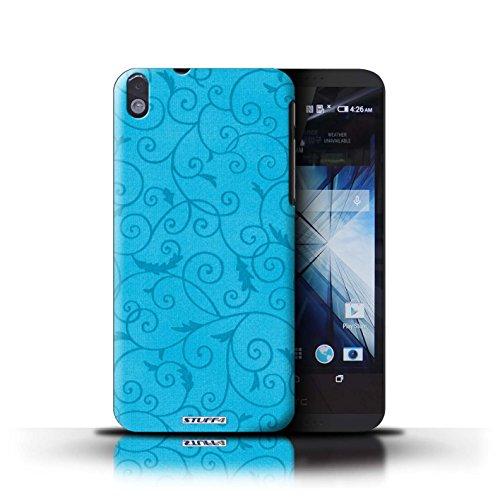 Kobalt® Imprimé Etui / Coque pour HTC Desire 816 / Rose conception / Série Motif de la vigne Turquoise