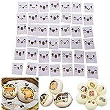 Oblea de papel de arroz comestible de varios estilos, diseño de dibujos animados sonriente,