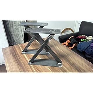 ACI Design Couchtisch Fuß Bein Tischbeine Tischfüsse Serie Massiv Modell X im Industrie Look