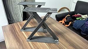 couchtisch fu bein tischbeine tischf sse serie massiv modell x im industrie look. Black Bedroom Furniture Sets. Home Design Ideas