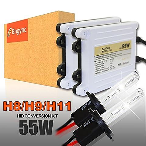 Kit di conversione HID Engync 55W H11 xeno con Premium reattori e 3 anni di garanzia | Hi / Low Deeper Blue Color