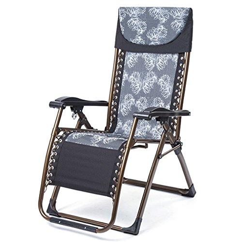 Vintage Office Lounge Stühle Tinte schwarz Schwerelosigkeit Klappstuhl Mittagspause Schaukelstuhl Couch Siesta Bett faltbare Bett Einzelbett Siesta Stuhl Haushalt Beach Chair mit Legierung Lock (4 Beach-chair-position)