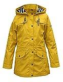 Batela Damen Regenmantel mit Innenfutter, Farbe:gelb, Größe:44
