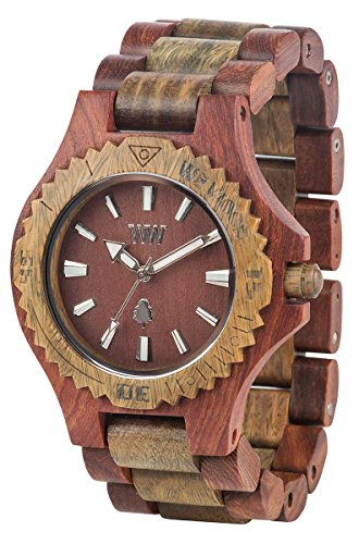 Orologio unisex in legno Wewood DATE CHERRY ARMY