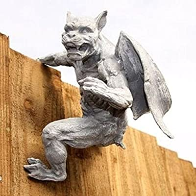 SSITG Gargoyle Zaunhänger Torwächter Garten Figur Deko GA41L Gartenfigur Fantasy von SSITG auf Du und dein Garten