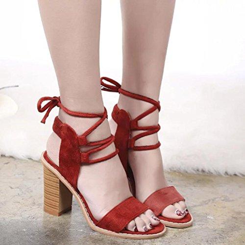 Koly_Primavera moda cinghie sandali delle pompe delle donne alti calza Pattini Femminili Vino