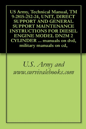US Army, Technical Manual, TM 9-2815-252-24, UNIT, DIRECT SUPPORT AND GENERAL SUPPORT MAINTENANCE INSTRUCTIONS FOR DIESEL ENGINE MODEL DN2M 2 CYLINDER ... military manuals on cd, (English Edition)