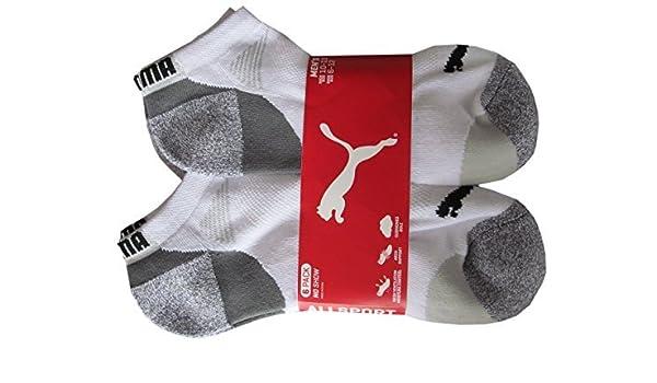 801a5de3d19 Puma Mens Low Cut All Sport No Show Socks 6-Pair (Shoe Size 6-12 ...