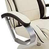 Amstyl TV Design Relax-Sessel verstellbar – Kunstleder drehbar mit Hocker - 8