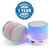 Drumstone S10 Wireless LED Bluetooth Speakers Handfree with Calling Functions & FM Radio For All Smartphones (Assorted Colour)