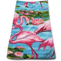 Sangeigt Hand Towel, Flamingos Turquoise Bath Towels for Hotel-SPA-Pool-Gym