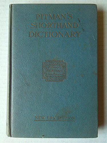 Download Pitman S Shorthand Dictionary New Era Edition Pdf