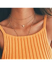 Elistelle Moon ankk0 Diseño Collar Pendant Choker Collares mehrr Row Chain collares for Women