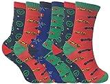 Sock Snob 6 Pares Niños Niño Niña Colores Fantasia Respirable Divertidos Cortos Algodón Calcetines con Diseños para Verano (31-36 EU, Ka Cars)