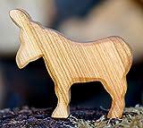 Esel geschnitzt Holz Tier Krippe Dekoration Massiv Figur Handarbeit Bauerntier Wiese