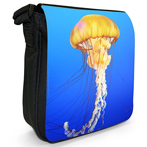 Fancy A Snuggle, Borsa a tracolla donna Große gelbe schwimmende Qualle