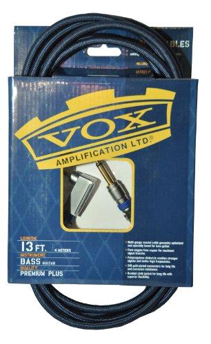 VOX VBC 13BL   CABLE PARA BAJO (CALIDAD PROFESIONAL  CLASE A  4M  CONECTORES DORADOS)  COLOR NEGRO