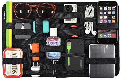 Band Organizer (Cocoon GRID-IT - Taschen Organizer / Elastische Bänder / Elektronik Zubehör / Organizer für Aktentasche / Multifunktionales Organisationssystem mit Reißverschluss & Schlaufe - Schwarz / 38,4x1x24,4cm)