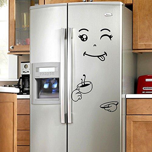 Gran promoción barata!Gusspower Etiqueta engomada linda nevera feliz cara deliciosa refrigerador de...