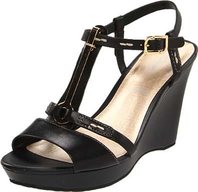 Rockport Women's Locklyn Pendant QTR Strap Fashion Sandals Beige Cream Black Size: 8
