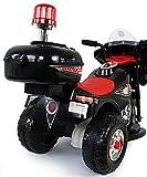 Toyas Kindermotorrad Polizei Motorrad in Schwarz - 3