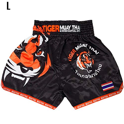 BeneU Herren Boxing Shorts Boxen Kurze Hose Sport Trainingshose Sporthose Shorts Sporthose für Muay Thai gemischte Kampfkünste Kickboxen Cage Kämpfen Freistil Training professionelles Kämpfen (Muay Shorts Thai)
