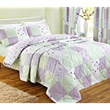 Dreams 'n' Drapes, Patchwork Bedspread, Lilac, Single