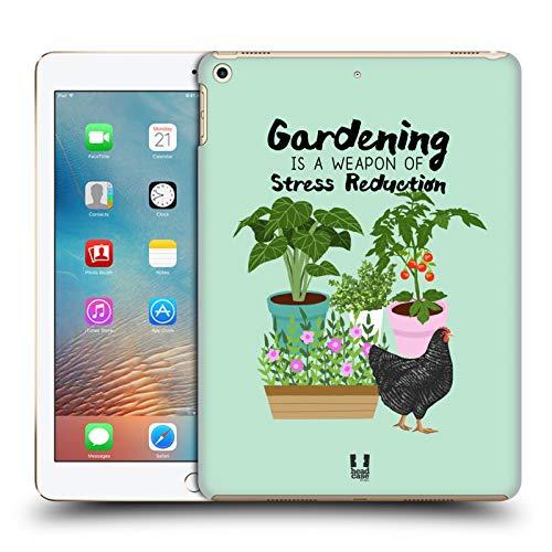 Head Case Designs Garten Huhn Froehliche Garten Arbeit Harte Rueckseiten Huelle kompatibel mit iPad 9.7 2017 / iPad 9.7 2018 -