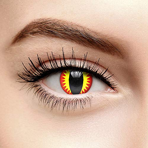 Chromaview Drachenauge Farbige Kontaktlinsen Ohne Stärke Rot (Tageslinsen)
